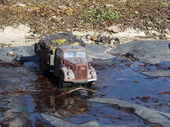 Opel Blitz geht baden...