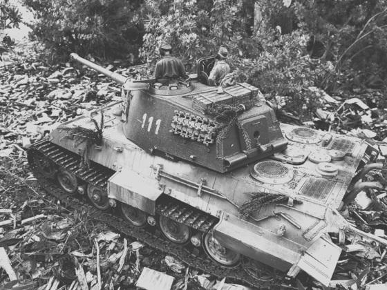 Tiger II in Abwehrstellung