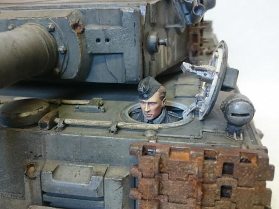 Resin 1/2 Figur Fahrer Tiger I