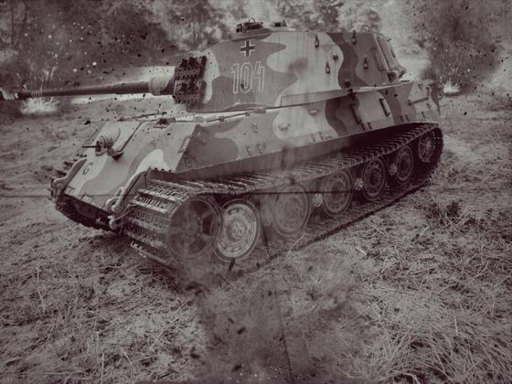 Königstiger im Gefecht