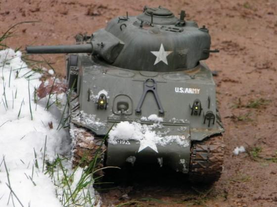Sherman beim Winterrasseln