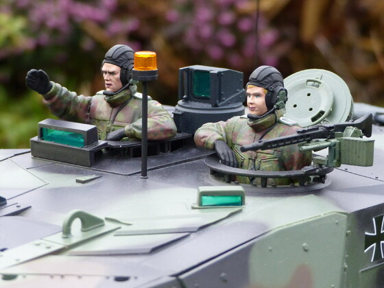 Leopard 2A6 bei Gartensicherung