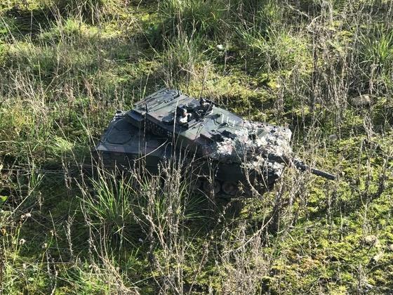 Leopard 2 getarnt