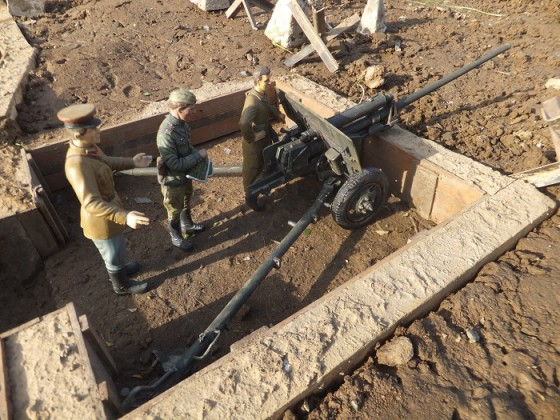 ZIS  2 anti Tank gun in Stellung