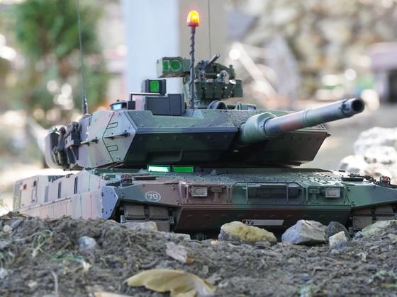 Leopard 2 A7V in Stellung