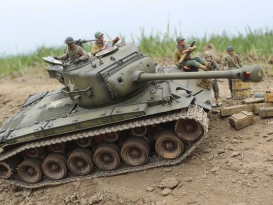 Tamiya Pershing der 3rdAD 33rd AR 1945
