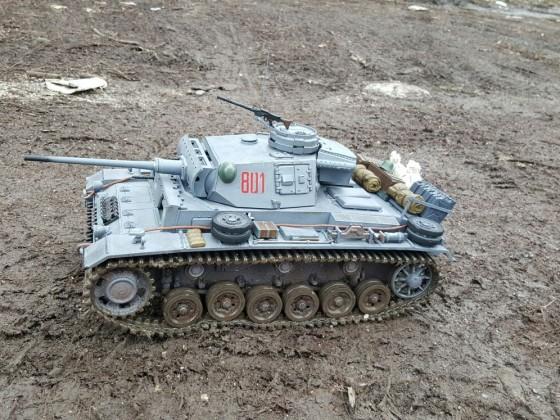 Panzer III im Schlamm