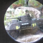 Blick durch Tiger I Turmzielfernrohr T.Z.F.9b