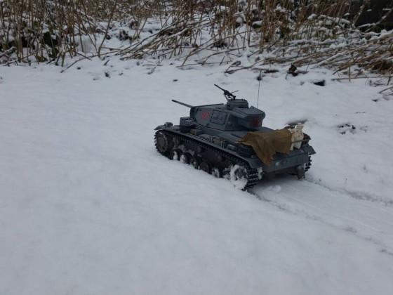 Panzer III Ausf. L der 502. schw. Pz. Abt. im Wintereinsatz