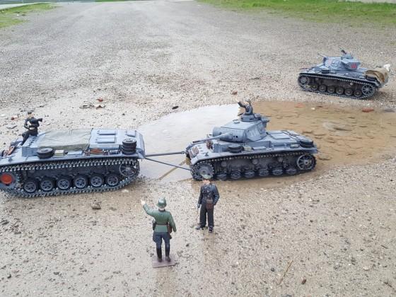 Panzer III wird geborgen